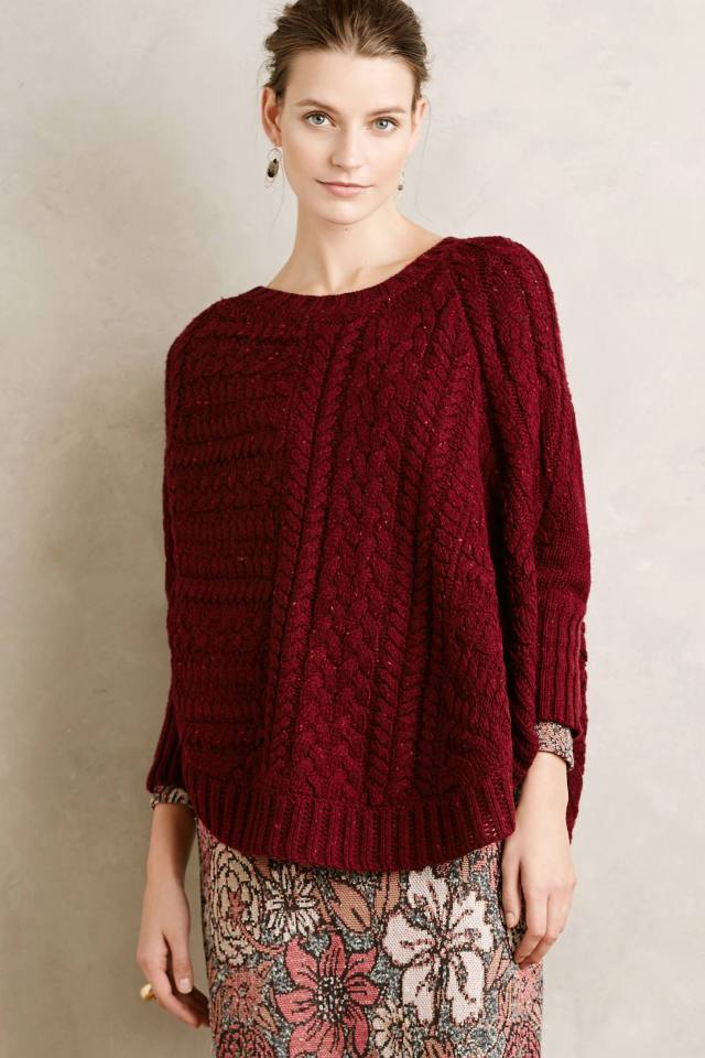 Cabled Cowl Poncho by Angel of the North