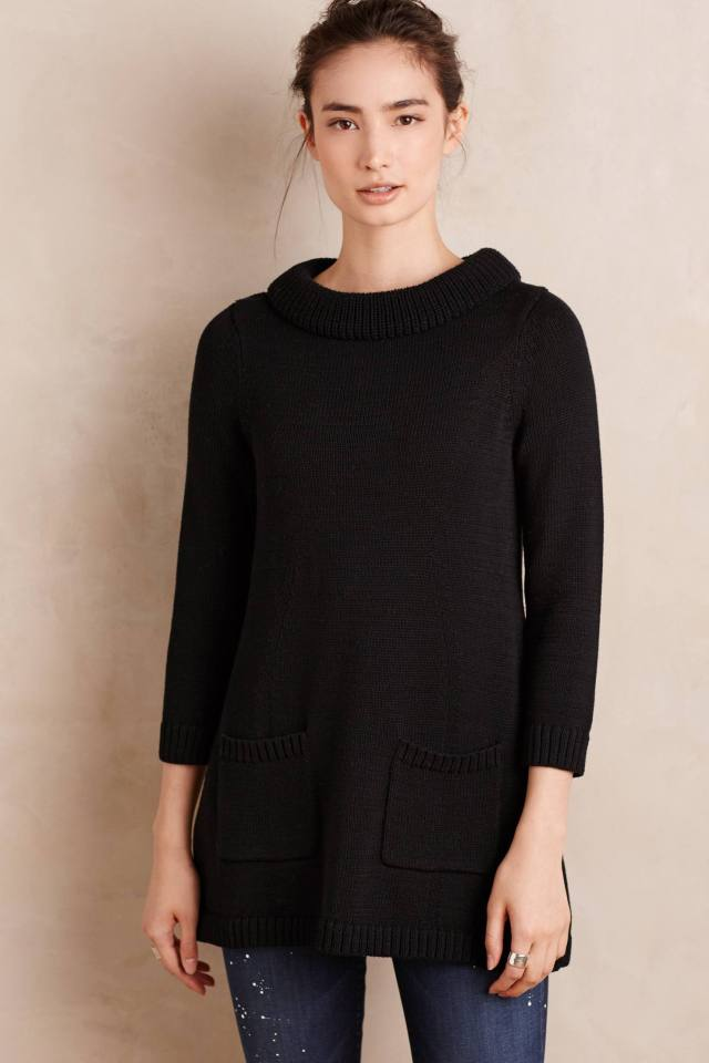 Rib-Trimmed Sweater Tunic by Field Flower by Wendi Reed