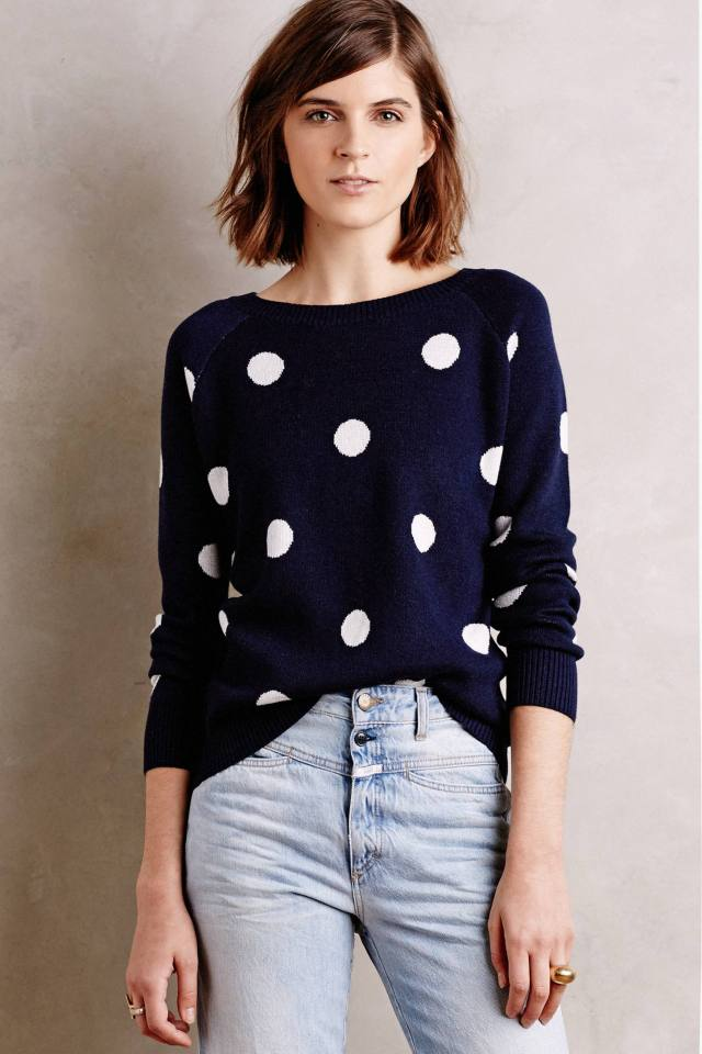 Polka Jacquard Pullover by Moth