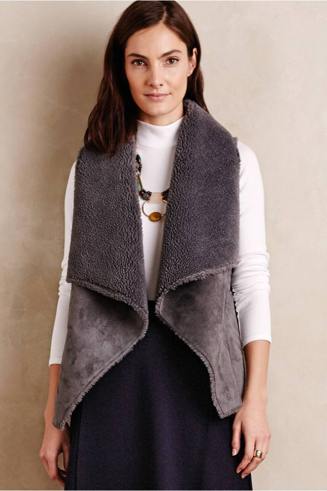Vegan Shearling Vest by Velvet
