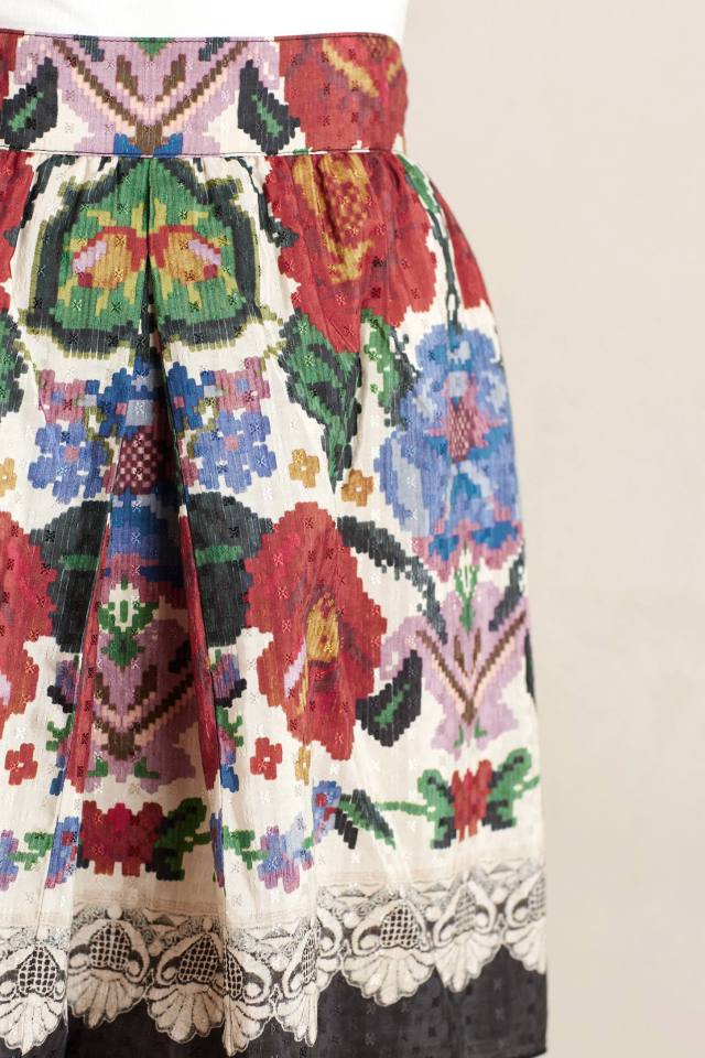 Folktale Mini Skirt by Anna Sui