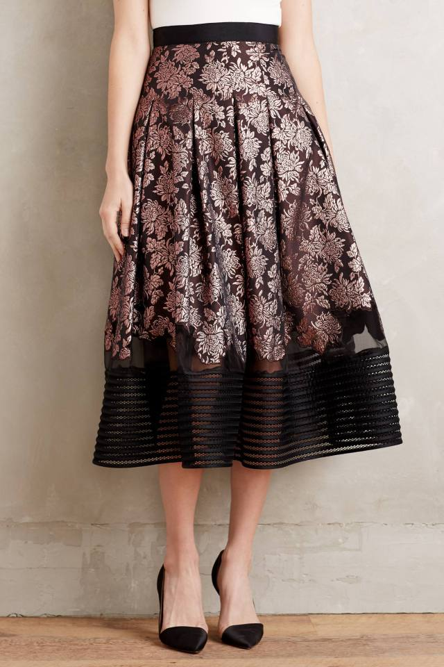 Infiorato Ball Skirt by NOIR Sachin & Babi