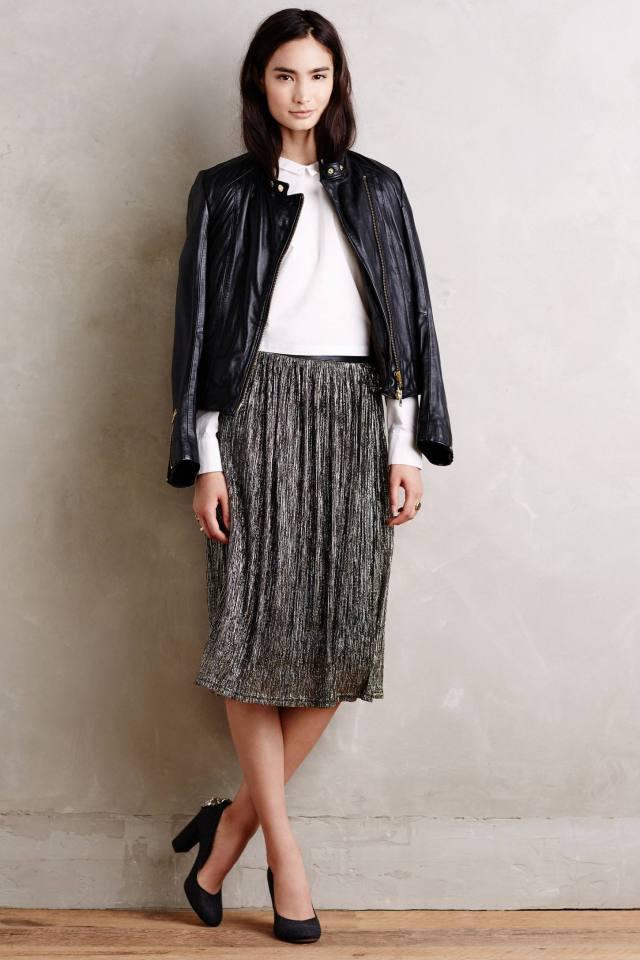 Goldstruck Midi Skirt by Maeve