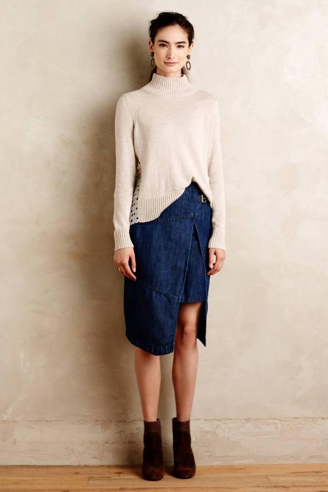 Denim Wrap Skirt by Holding Horses