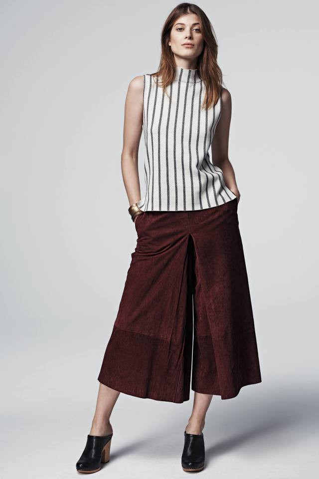 Sueded Midi Crops by Raoul