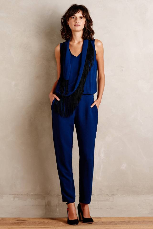 Fringed Scarf Jumpsuit by Twelfth Street by Cynthia Vincent