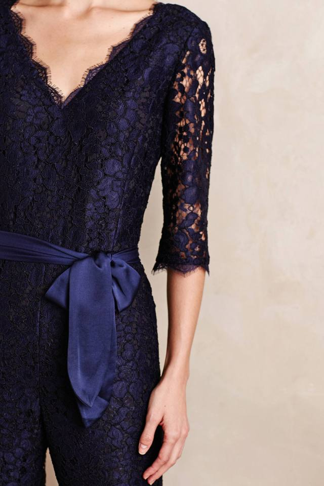 Lace-Sleeve Jumpsuit by Elevenses