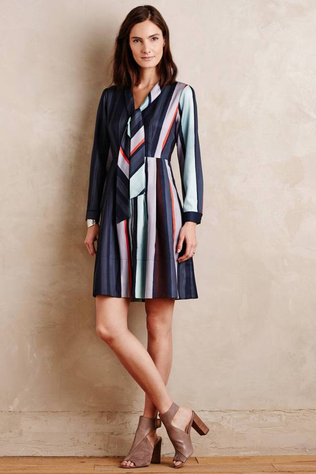 Tie-Neck Shirtdress by Raoul
