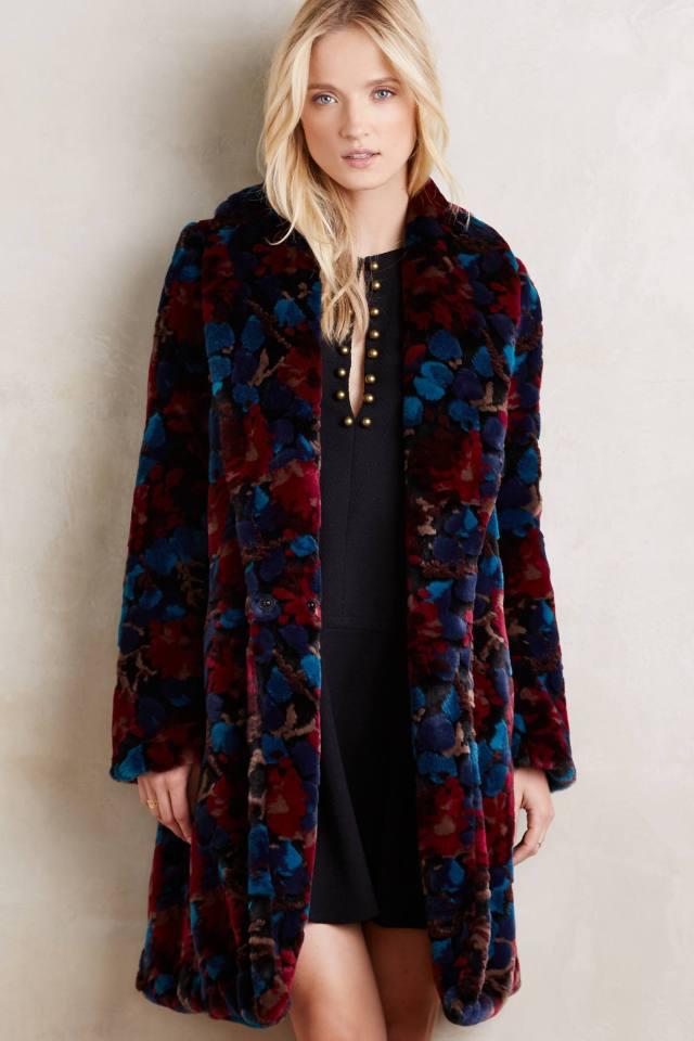 Marigny Faux-Fur Coat by Plenty by Tracy Reese
