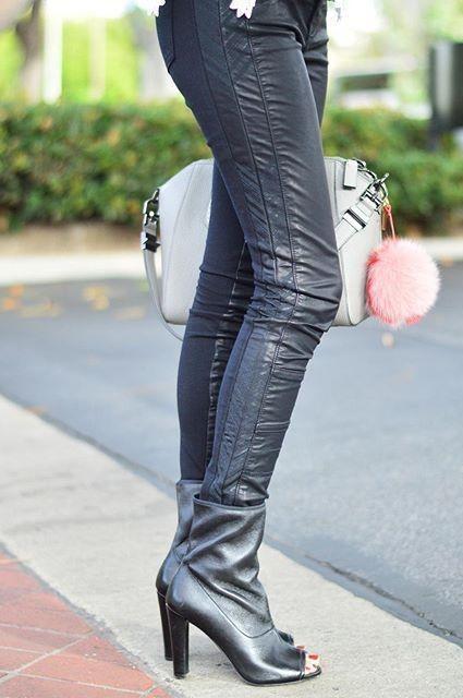 Vegan Leather Moto Pants by Pilcro