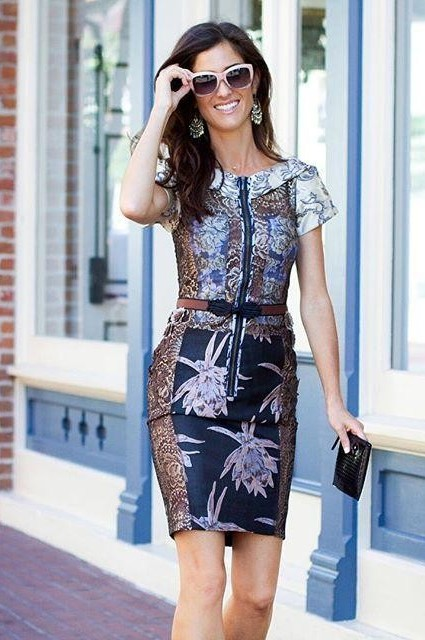Embroidered Brocade Dress by Byron Lars