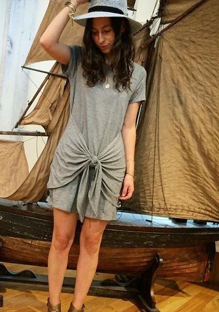 Tied T-Shirt Dress by Dolan Left Coast