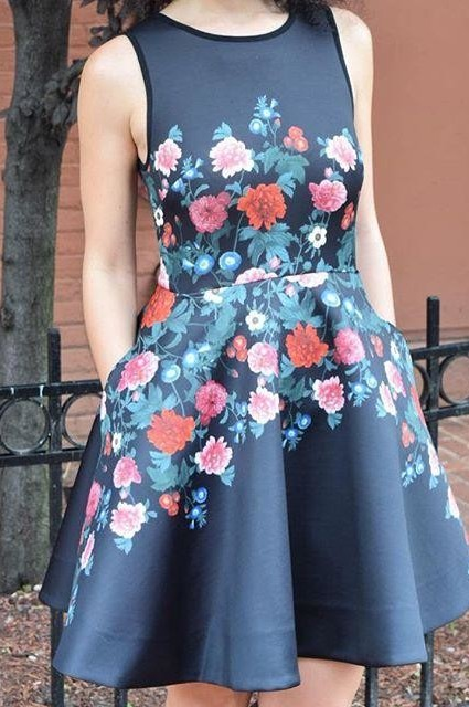 Rose Garland Dress by Erin Fetherston