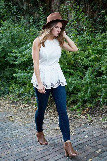 Jona Peplum Blouse by HD in Paris