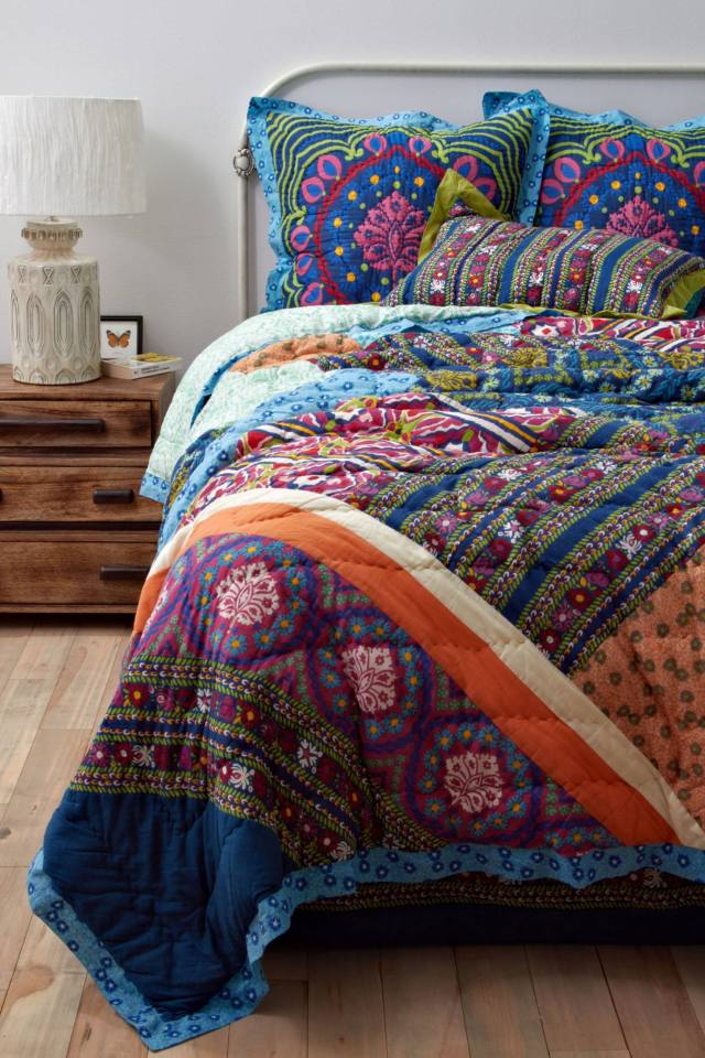 Anthropologie Wildfield Quilt