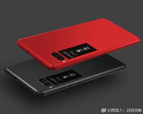 meizu pro 7 renders leak red black colored