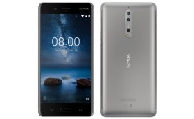 nokia 8 comes two colors shiny dark blue silver