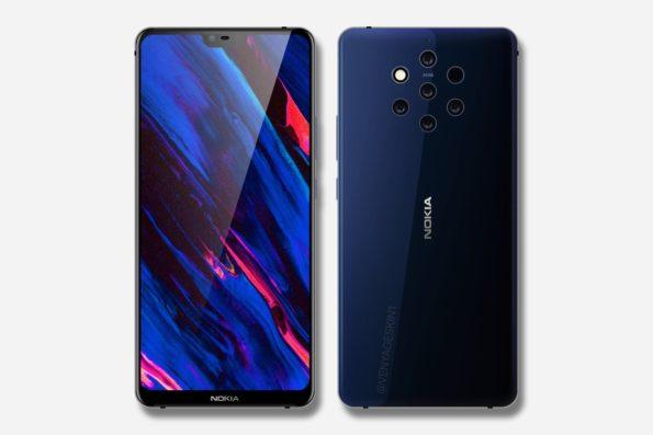 Nokia 9 (2018) Concept Render