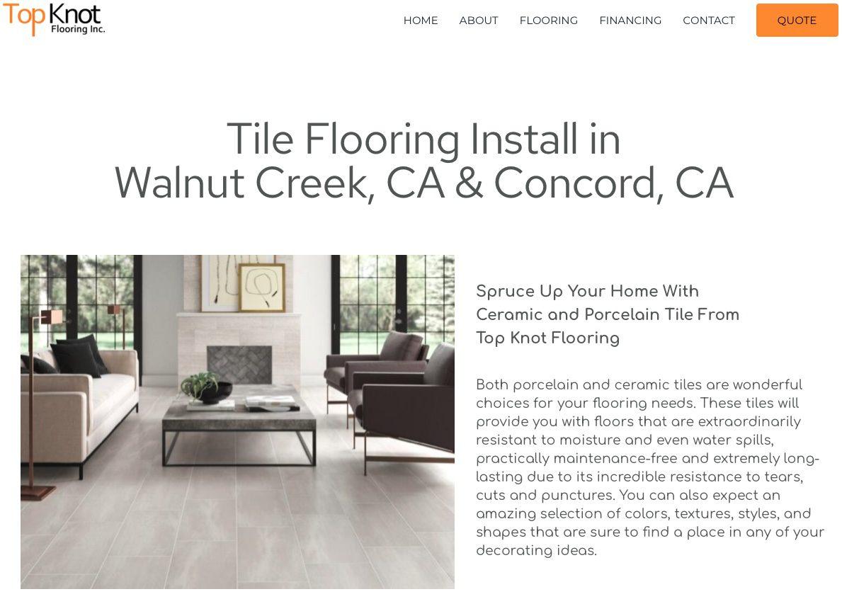 tile flooring install in walnut creek