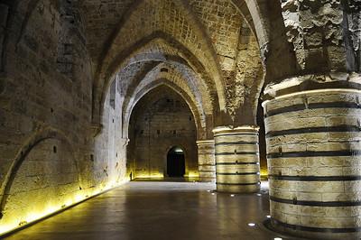 The refectorium in the Knights Templar citadel
