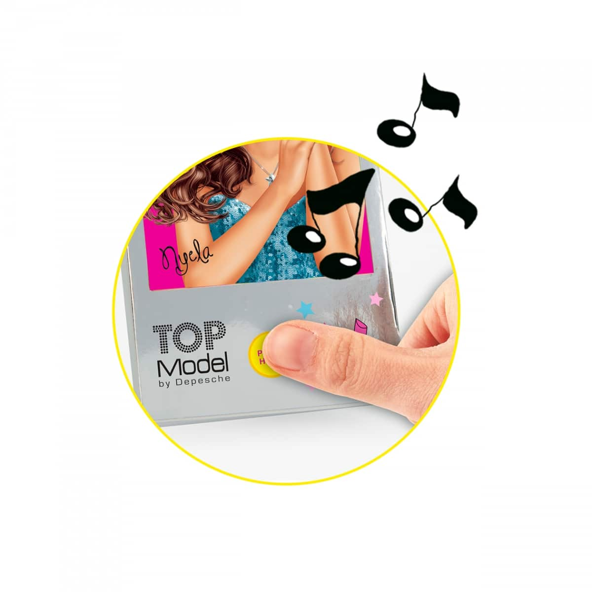 TOPModel mini libro de colorear con música