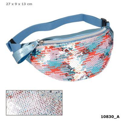 TOPModel Bolso de cadera Riñonera con lentejuelas reversibles azul