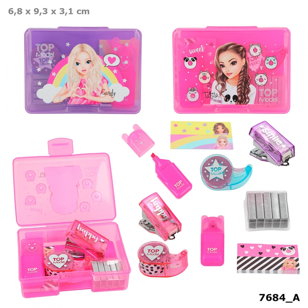 TOPModel Mini set de escritorio – Fucsia