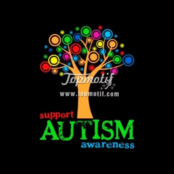 Autism Awareness tree heat transfer printing for clothing