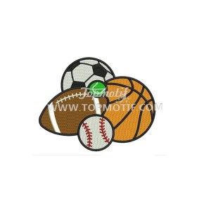 Hotfix Ball Embroidery patch heat Transfer