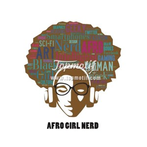 Afro Girl hot fix clothing printed heat transfer vinyl