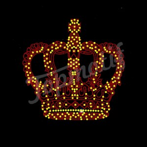 Strass Design Bling Crown Hotfix Transfer Rhinestone T-Shirt Heat Transfer Sticker