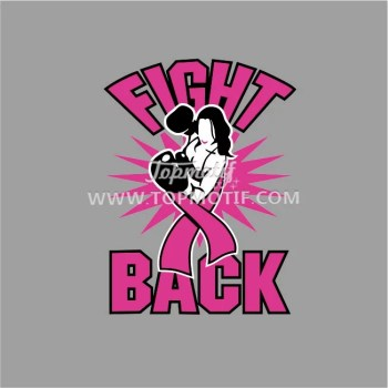 breast cancer fight back heat transfer t-shirt printing