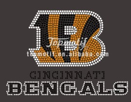 Hot Fix Bengals Rhinestone Heat Transfer For Clothing