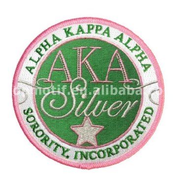 Custom Sorority AKA Embroidery Iron on Patch
