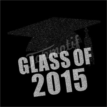 Class Of 2015 Letters Heat Transfer Iron On School Glitter Motif