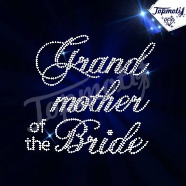 Motif Strass Grande mother of The Bride Wholesale Hotfix Rhinestone Iron On Transfers