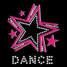 DANCE Rhinestone Heat Transfer Bling STAR vinly printing for garments