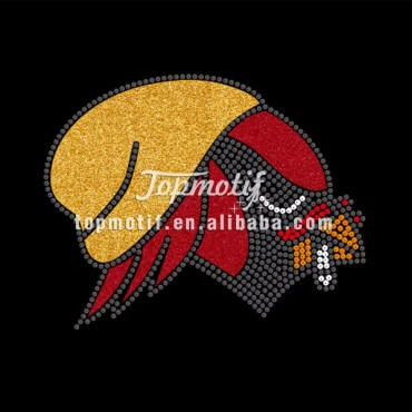 Football Transfers cardinals rhinestone transfer for custom t-shirt