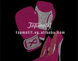Hotfix Motifs Supplier Fighting Breast Cancer Riboon Iron Ons