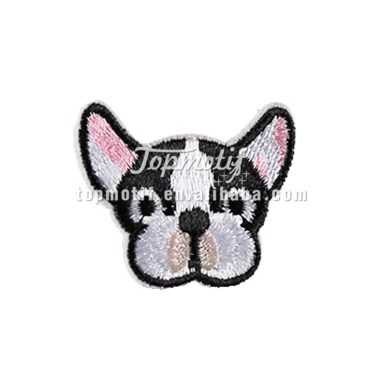 Bulldog custom patches embroidered