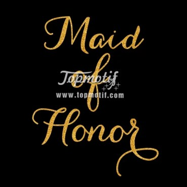 DIY Bridal Party Shirt Maid of Honor Glitter Iron On