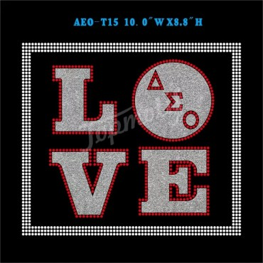 Love Aeo Glitter Transfer Delta Sigma Theta Iron On Wholesale Designs