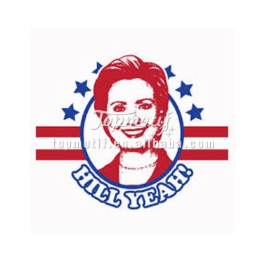 New custom t shirt iron on vinyl heat transfer print sticker for Hillary Vote
