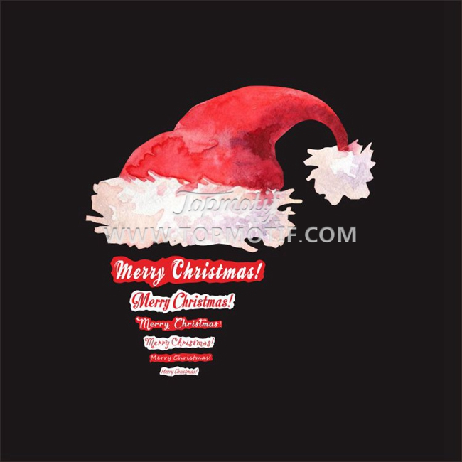 christmas heat transfer printed vinyl hat pattern stickers
