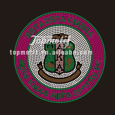 Sorority AKA Iron on Rhinestone Transfer Design