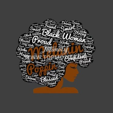 Afro Girl Iron on Heat Transfer Vinyl Design