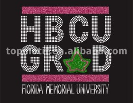 crystal applique HBCU AKA sorority custom rhinestone shirts wholesale
