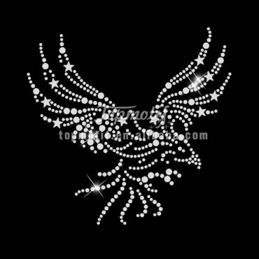 eagle rhinestone with nailhead transfer for Garment