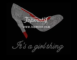 High Heel It's A Girl Thing Iron On Transfer Designs