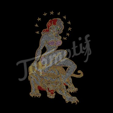 The Classical Beauty and the Beast rhinestone transfers designs